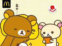 麦当劳儿童套餐免费得轻松小熊系列玩具