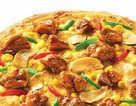 黑椒蘑菇烤鸡比萨