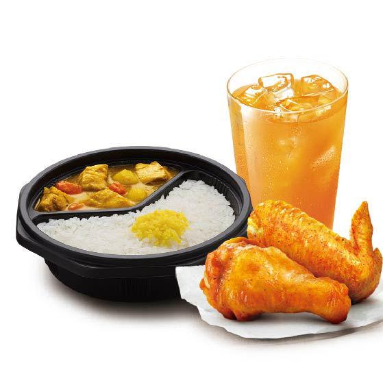 日式咖喱鸡饭小桶套餐