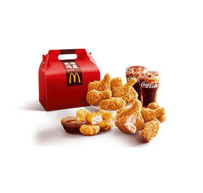 柏氏花草木果套盒-麦当劳麦乐鸡麦趣鸡盒 78元/份,内含:麦乐鸡7块+香骨鸡腿3个+麦辣