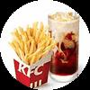 C38 下午茶 薯條(小)+拿鐵(中)(熱/冰)含榛果/香草風味 2020年2月憑肯德基優惠券21元