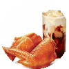 C34 下午茶 新奥尔良烤翅2块+拿铁(中)(热/冰)含香草风味/榛果风味 2019年9月凭肯德基优惠券24元