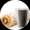 E3 早餐 培根蛋肉酥饭团+黑Pro豆浆 2017年10月凭肯德基优惠券15元