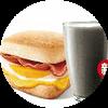 E5 早餐 芝士培根蛋帕尼尼+黑Pro豆浆 2017年10月凭肯德基优惠券15元