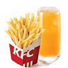 C35 下午茶 薯條(中)+九珍果汁飲料 2020年2月憑肯德基優惠券20元
