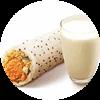 E2 早餐 金沙咸蛋黄肉酥饭团+醇豆浆(热) 2019年1月2月凭肯德基早餐优惠券14元