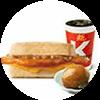 早餐 芝士照烧鸡排帕尼尼+茶叶蛋1个+美式(中) 2021年1月凭肯德基优惠券9折