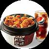 C14 川辣泡椒鸡块饭+百事可乐(中) 2019年2月凭肯德基优惠券28元