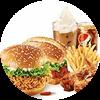 C15 两人套餐 香辣鸡腿堡+新奥尔良烤鸡腿堡+新奥尔良烤翅+薯条(大)+百事可乐(中)+雪顶咖啡 2019年2月凭肯德基优惠券68元