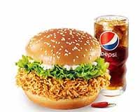 C13 香辣雞腿堡+百事可樂(中) 2020年2月憑肯德基優惠券24元