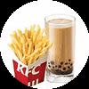 C6 小薯條+九龍金玉黑糖珍珠奶茶(熱) 2020年2月憑肯德基優惠券19.5元