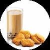 C7 九龍金玉黑糖珍珠奶茶(熱)+黃金雞塊 2020年2月憑肯德基優惠券21.5元