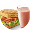 E4 早餐 熏鸡法风烧饼+红Pro豆浆 2018年2月凭肯德基优惠券12元