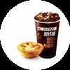 C10 葡式蛋撻+百事可樂無糖加纖維中杯 2020年2月憑肯德基優惠券15.5元