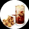 C40 下午茶 勁爆雞米花(小)+拿鐵(中)(熱/冰)含榛果/香草風味 2020年2月憑肯德基優惠券24元