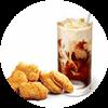 C39 下午茶 黃金雞塊+拿鐵(中)(熱/冰)含榛果/香草風味 2020年2月憑肯德基優惠券24元