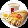 E3 早餐 大餅卷香烤雞扒蛋+醇豆漿(熱)+太陽蛋 2020年2月3月憑肯德基早餐優惠券18元
