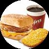 E1 早餐 芝士豬柳帕尼尼+美式(中)+薯餅 2020年2月3月憑肯德基早餐優惠券16元