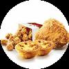 C37 下午茶 原味雞1塊+勁爆雞米花(小)+葡式蛋撻2個 2020年2月憑肯德基優惠券32元