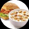 E3 早餐 冬菇滑鸡粥+熏鸡法风烧饼 2017年3月4月凭肯德基优惠券14元