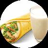 E4 早餐 熏鸡麦饼被蛋卷+醇豆浆(热) 2017年3月4月凭肯德基优惠券10元