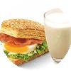 E5 早餐 培根蛋法风烧饼+醇豆浆(热) 2017年3月4月凭肯德基优惠券10元