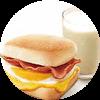 E6 早餐 芝士培根蛋帕尼尼+醇豆浆(热) 2017年3月4月凭肯德基优惠券11元