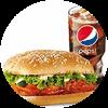C8 新奥尔良烤鸡腿堡+百事可乐(中) 2017年4月凭肯德基优惠券20元