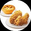 C11 香辣鸡翅2块+葡式蛋挞(经典) 2017年4月凭肯德基优惠券13.5元