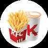 C38 下午茶 薯條(小)+拿鐵(中)(熱/冰) 2020年4月憑肯德基優惠券21元