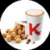 C40 下午茶 勁爆雞米花(小)+風味拿鐵(中)(熱/冰)含香草/榛果風味 2020年4月憑肯德基優惠券24元