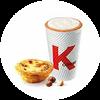 C41 下午茶 蛋撻+風味拿鐵(中)(熱/冰)含香草/榛果風味 2020年4月憑肯德基優惠券21元