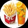 C30 薯条(中)+伴柠伴桔鲜果茶 2017年4月凭肯德基优惠券19元