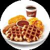 E1 早餐 新华夫全餐+美式现磨咖啡(中) 2019年1月2月凭肯德基早餐优惠券32元