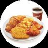 E1 早餐 有鸡腿西式全餐+美式现磨咖啡(中) 2019年9月凭肯德基早餐优惠券26元