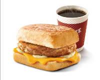 E4 早餐 芝士猪柳帕尼尼+美式现磨咖啡(中) 2019年9月凭肯德基早餐优惠券13元