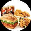 两人套餐 新奥尔良烤鸡腿堡+老北京鸡肉卷+黄金鸡块5块+百事可乐(中)2杯 2020年7月凭肯德基优惠券58元