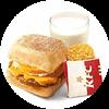 早餐 芝士猪柳蛋帕尼尼+醇豆浆(热)+香脆薯饼1份 2020年9月凭肯德基优惠券18元
