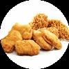 热辣香骨鸡+黄金鸡块 2020年7月凭肯德基优惠券18.5元