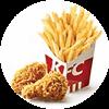 香辣鸡翅+薯条(小) 2020年7月凭肯德基优惠券16.5元