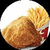 C30 下午茶 吮指原味雞1塊+薯條(小) 2020年2月憑肯德基優惠券17元