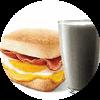 E5 早餐 芝士培根蛋帕尼尼+黑Pro豆浆 2019年1月2月凭肯德基早餐优惠券14元