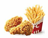 C22 下午茶 香辣鸡翅2块+小份薯条 2019年4月凭肯德基优惠券16元