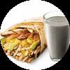 E3 早餐 大饼卷京酱卤肉丝+黑Pro豆浆 2019年1月2月凭肯德基早餐优惠券15元