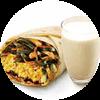 E3 早餐 大饼卷鲜香海带丝炒肉+醇豆浆(热) 2019年9月凭肯德基早餐优惠券13元