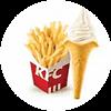 薯条(小)+原味冰淇淋花筒1个 2020年9月凭肯德基优惠券12元